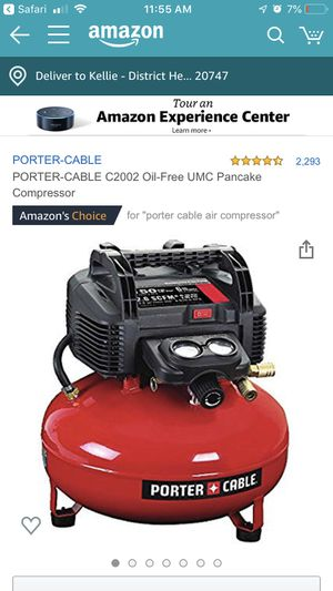 Porter cable air compressor for Sale in Lanham, MD