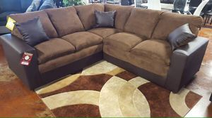 Brown Sectional Sofa Couch!! Brand New Free Delivery for Sale in Chicago, IL