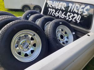 New trailer tires or wheels. 24/7 pick up for Sale in Fort Pierce, FL