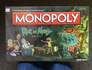 Monopoly Board Game Rick and Morty Edition for Sale in Seattle, WA