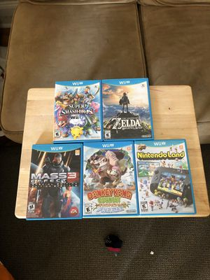 Wii U Games: Smash Bros, Breath of the Wild for Sale in Knoxville, TN