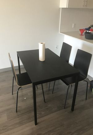 IKEA Kitchen Table with 3 Chairs for Sale in Seattle, WA