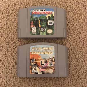 Nintendo 64 video games cartridges n64 retro classic vintage cleaned works for Sale in Burtonsville, MD