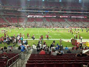 2 Arizona Cardinals 20 yard line AISLE Seat tickets Section 132 row 20 for Sale in Phoenix, AZ