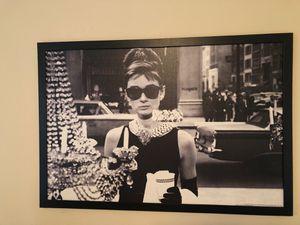 Framed Audrey Hepburn Photo for Sale in Portland, OR