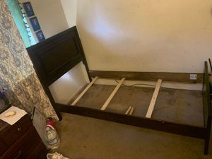 Twin size bed with foundation and frame for Sale in San Jose, CA