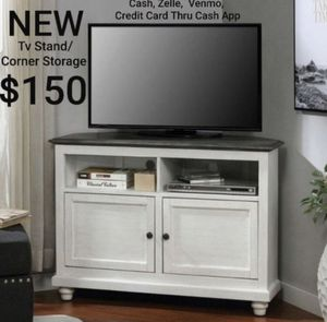 TV Stand in White and Gray for Sale in Los Angeles, CA