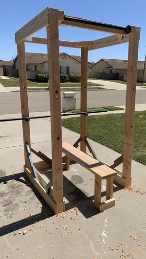 Heavy duty wood squat rack for Sale in Vandenberg Air Force Base, CA