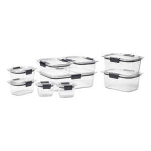 Rubbermaid Brilliance Food Storage Containers, 18-Piece Set for Sale in Houston, TX