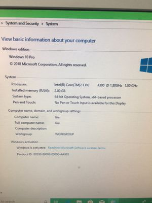 Intel core 2 Windows 10 computer and monitor for Sale in Clermont, FL