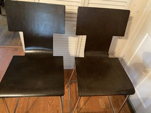West Elm high-back bar stools. for Sale in Bailey's Crossroads, VA