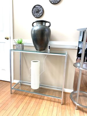 Silver Console Table . Very Modern. for Sale in MARRIOTTSVL, MD