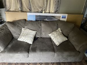 Grey couches for Sale in Hemet, CA