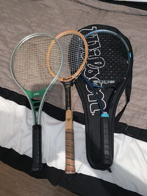 Tennis Rackets Vintage And Also Used Tennis Rackets Bundle And will sell individual for Sale in La Porte, TX