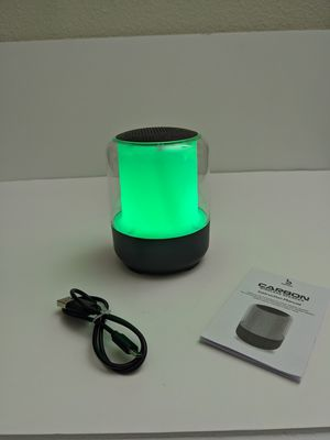 Carbon wireless Bluetooth speaker color changing led for Sale in Las Vegas, NV