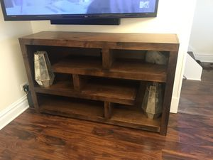 Like New Wood TV Stand Console for Sale in Chicago, IL