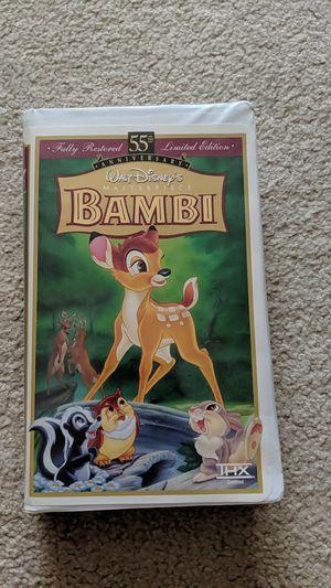 Disney Bambi VHS 55th Anniversary for Sale in Edmonds, WA