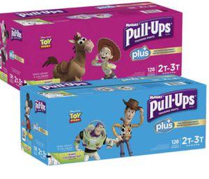 Huggies Pull-Ups Plus Training Pants 2T-3T 128 CT for Sale in Saginaw, TX