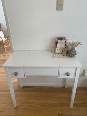 Used White Desk featuring Anthropologie knobs for Sale in San Diego, CA