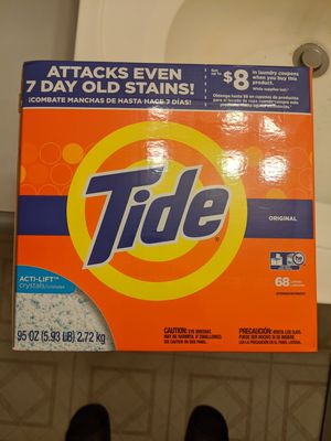 Tide Original HE Turbo Powder Laundry Detergent, 68 Loads, 95 Oz for Sale in Hyattsville, MD