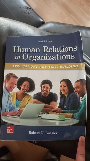 Human reactions In organizations applications and skill building college text book for Sale in Pasadena, TX