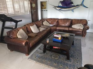 Leather couch for Sale in LAUD BY SEA, FL