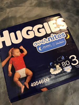 Huggies overnight size 3 diapers 80ct for Sale in Woodbridge, VA