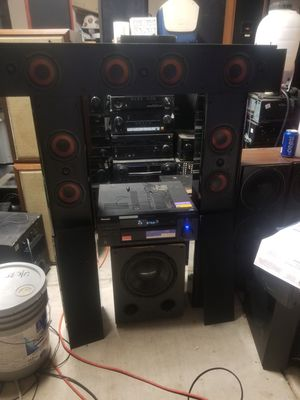 Truaudio Speakers and Subwoofer with Pioneer Receiver for Sale in Farmersville, CA