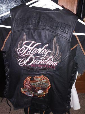 Women's Medium Real Leather Harley Davidson Vest for Sale in Polk City, FL
