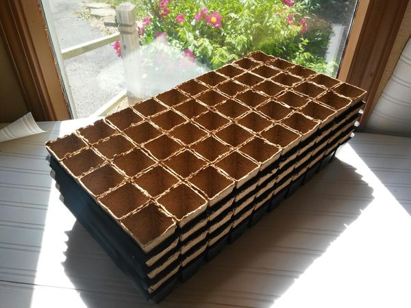 """One lot of 40 Trays Of Peat Pots With Fifty 2"""" Peat Pots Per Tray"""