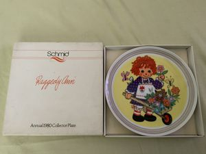 "THE SCHMID COLLECTIONS ""THE RAGGEDY ANN & ANDY PLATE IN ORIGINAL BOX #6 for Sale in Henderson, NV"