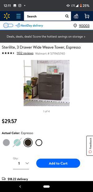 Sterilite 3 drawer storage container for Sale in Montebello, CA