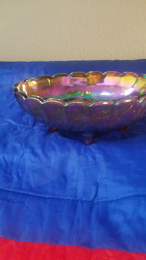 Unique Fenton Glass Dish Strong and heavy for Sale in Fontana, CA