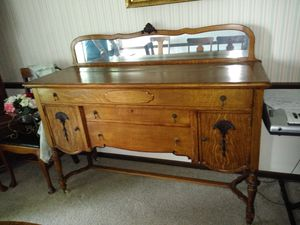 Antique dining room China desk for Sale in Columbus, OH