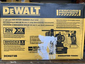 DEWALT 20-Volt MAX Lithium-Ion Cordless 1 in. SDS-Plus Brushless L-Shape Concrete & Masonry Rotary Hammer (Tool-Only) - IN BOX for Sale in Spring, TX
