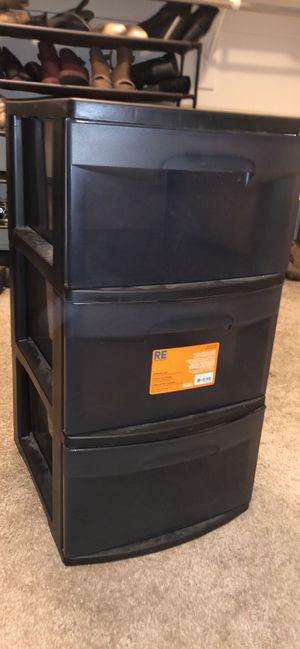 Plastic 3 drawer cart for Sale in Surprise, AZ