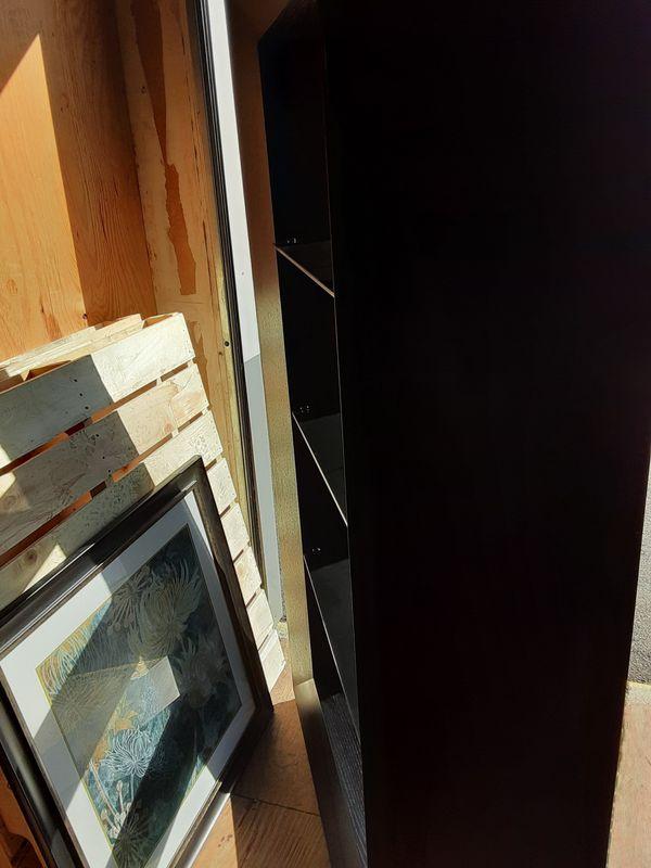 Black bookshelf large