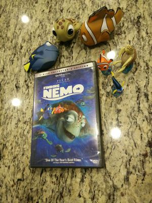 Finding Nemo: DVD, collectible characters and squirt toys. for Sale in Houston, TX