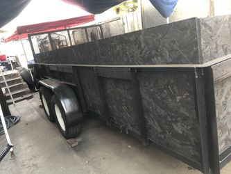 AZTEX trailer 2005 all paper work in Hand. Tags are up to date It's a 6 FT - 7 inch X 14 FT long. 2 axles 6000lb capacity. Only serious for Sale in Los Angeles,  CA