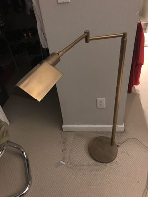 Gold floor lamp - set of two for Sale in Miami, FL