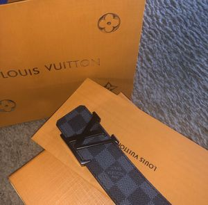Authentic Louis Vuitton Belt With Receipt (Fits 30-36) for Sale in Westford, MA