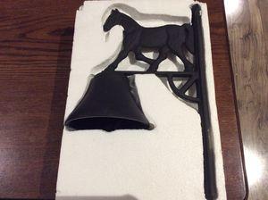 Brand new cast-iron horse bell for Sale for sale  Jupiter, FL