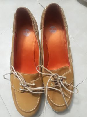 Timberland Women Size 9 1/2 Wheat Nubuck Leather Slip for Sale in Dallas, TX