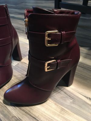 Brand news Wine colored boots, 7 for Sale in Houston, TX