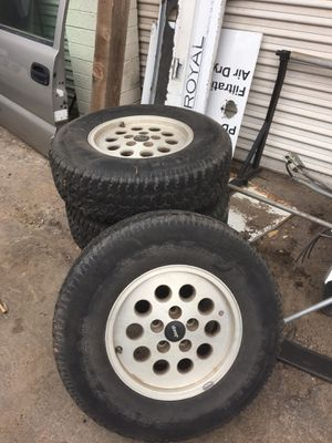 "Jeep 15"" 5 lug 4.5 wheels/rims for Sale in Mesa, AZ"