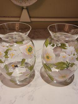 2 Floral Vases for Sale in Hoboken,  NJ