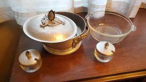 Vintage Hammered Aluminum Rodney Kent Tulip Covered Dish #407 for Sale in Upland, CA