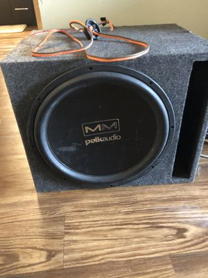 MM Polk audio 15 inch sub and sub woofer box for Sale in Cedar Park, TX