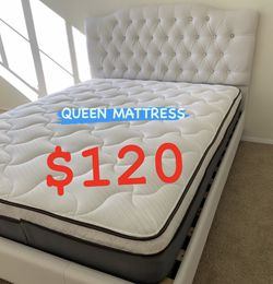 BRAND NEW PILLOW TOP MATTRESSES !! ✅ BEST DEALS 💥💥💥 ✅ ‼️ SAME DAY DELIVERY 🚛 ‼️⚠️ ✅ $20 Delivery FEE ✅ QUEEN MATTRESS $120 ❌ $180 With Box Spri for Sale in Pomona,  CA
