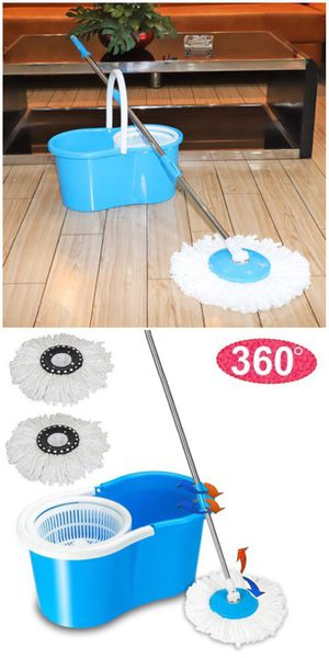 New in Box Spin Mop 360 Rotating Head Magic Floor Mop with 2 Microfiber Heads for Sale in Covina, CA